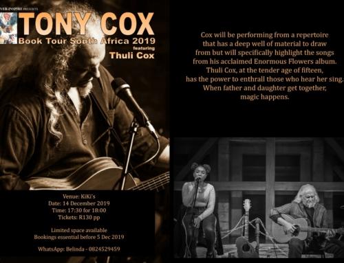 14 December:  Tony Cox @ Kiki's